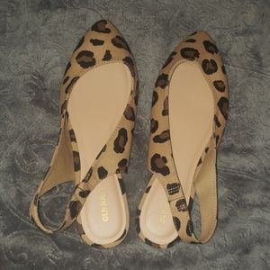 Leopard sling backs